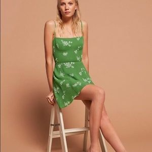 Reformation Stacey Dress in Green